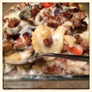 polenta roasted vegetable lasagna